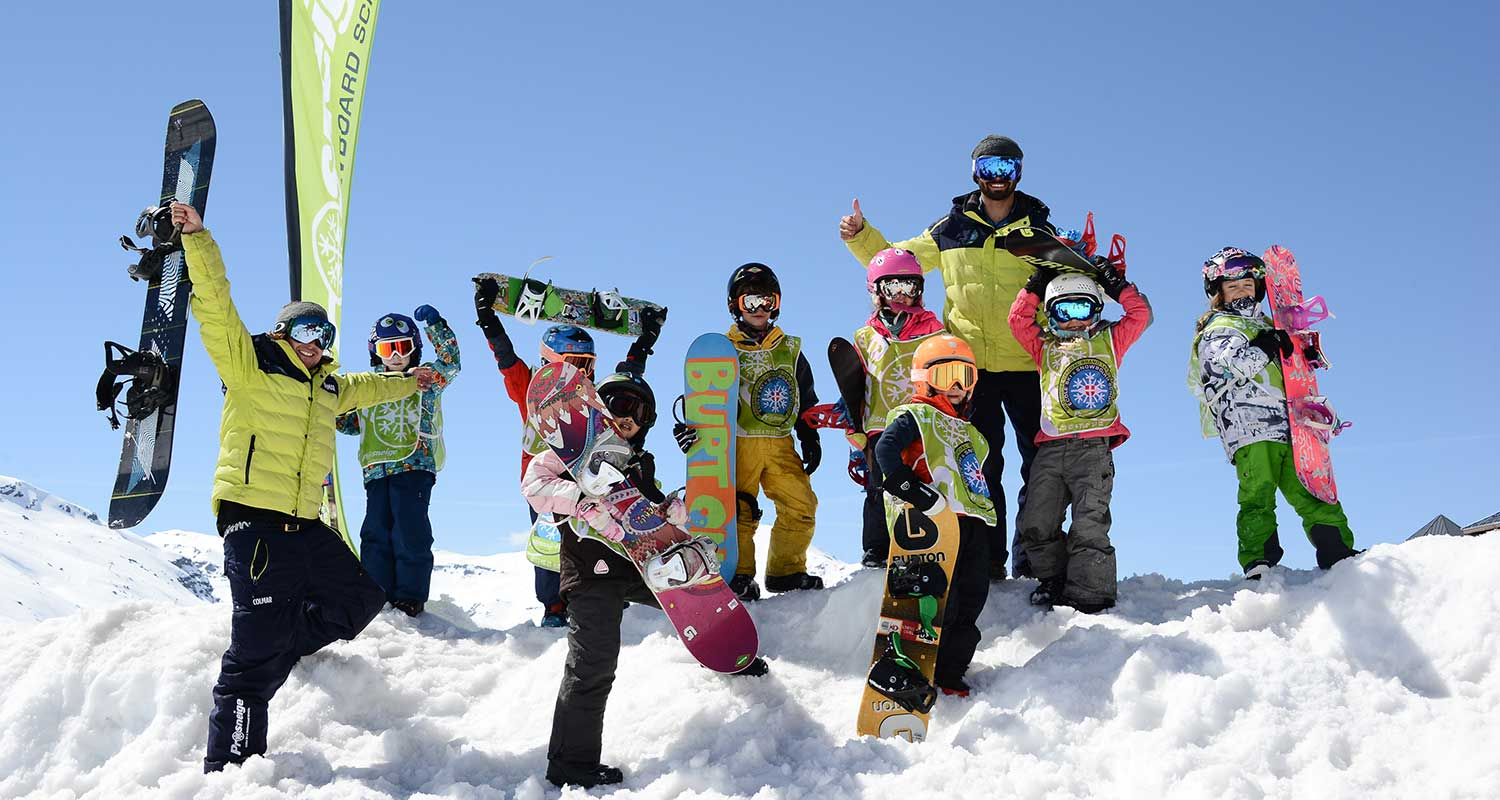 snowboard group lessons children prosneige