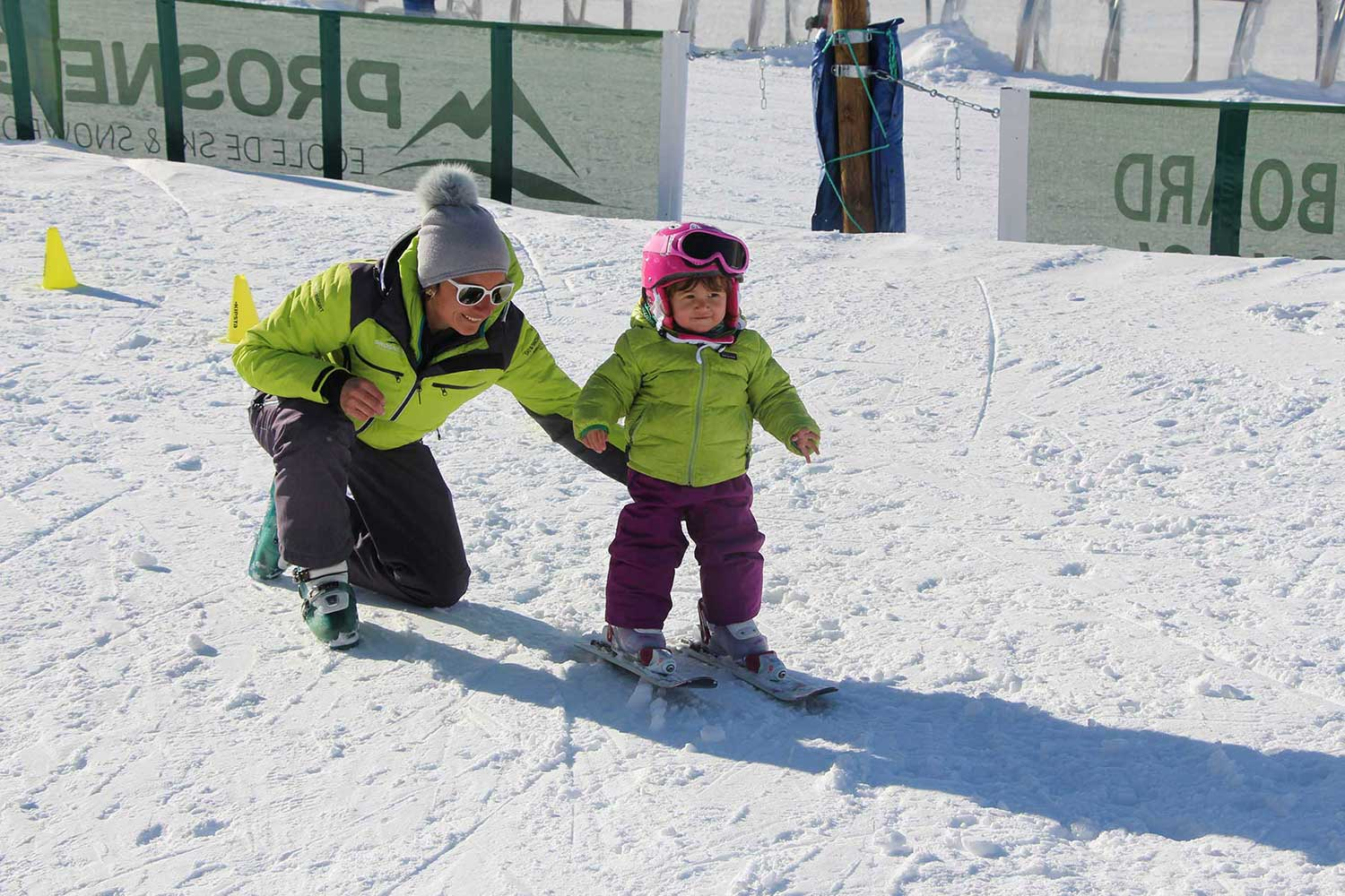 ski group lessons children kindergarten prosneige