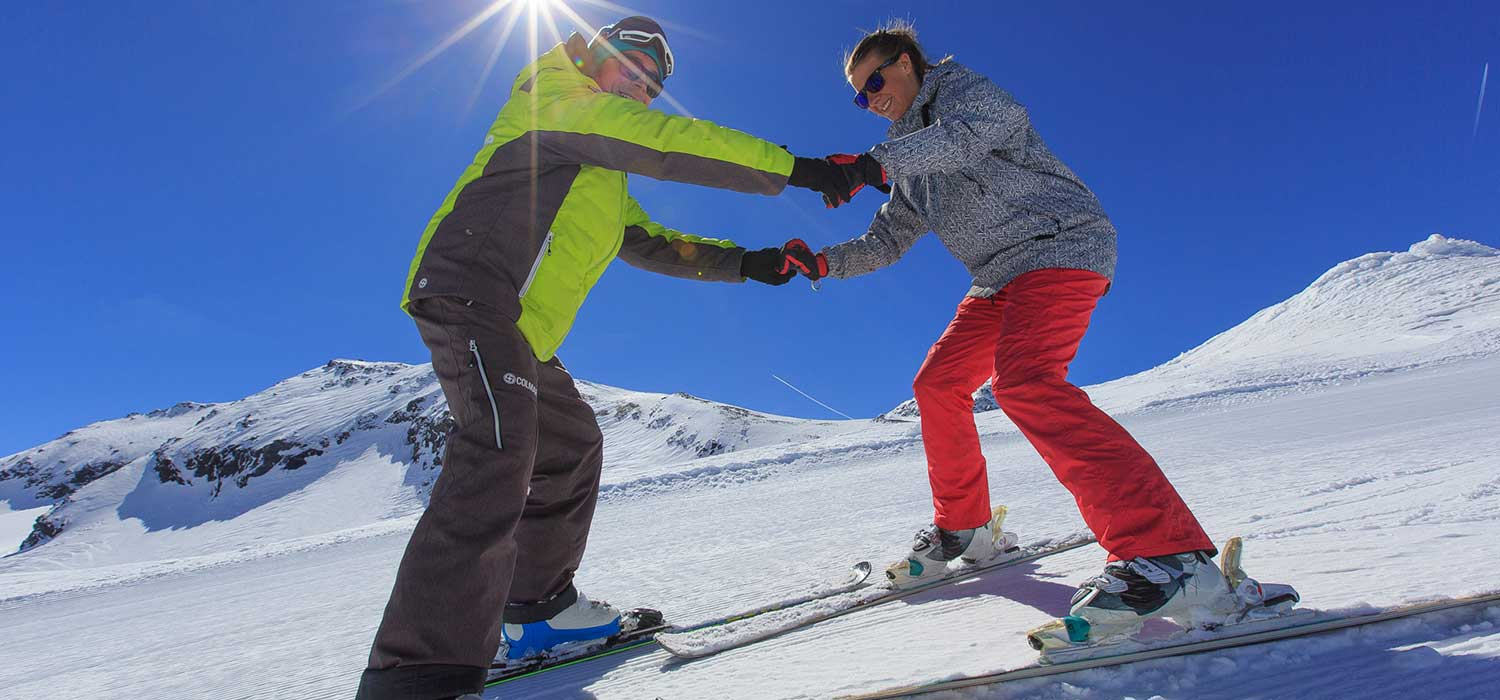 private ski lessons adults and children prosneige