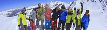 click to book adulte group ski lessons