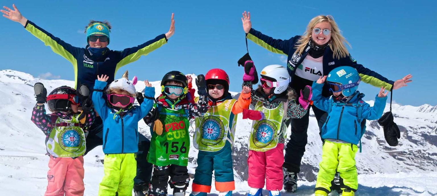Ski group lessons children Prosneige