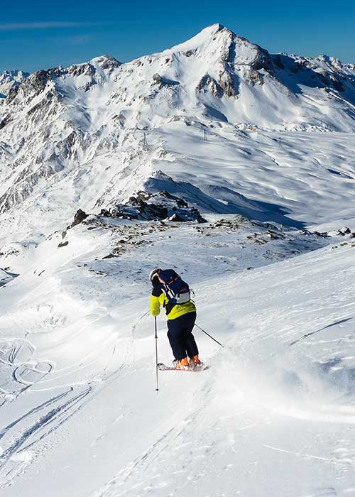 off piste skiing and freeride lessons