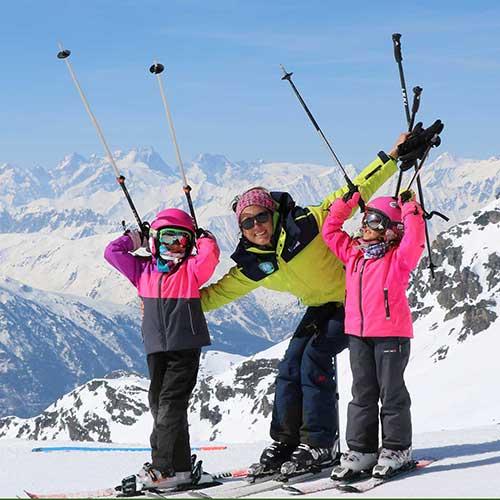 ski lessons with ski instructors
