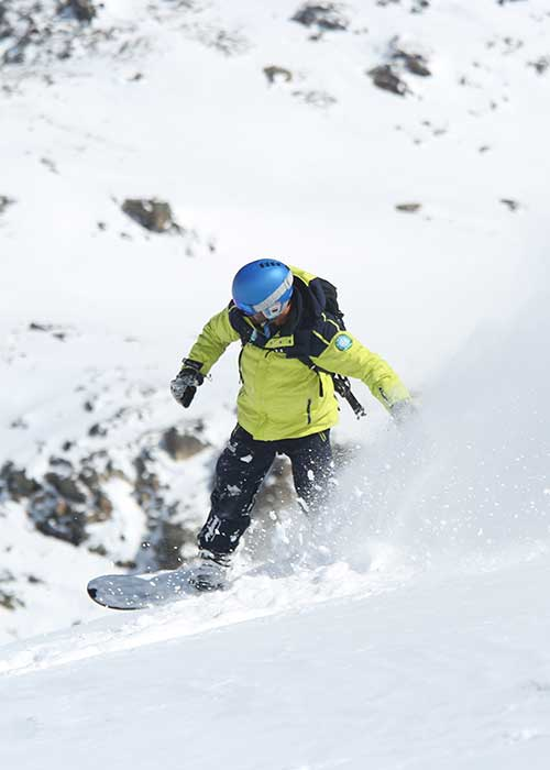 snowboard freeride and off-piste lessons