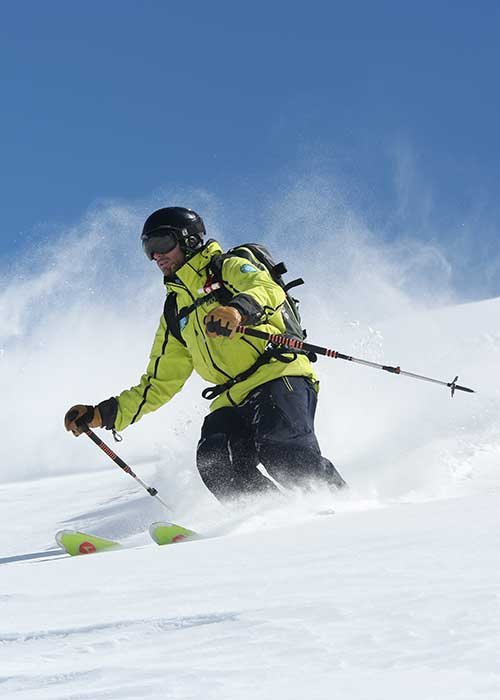 teaching ski with prosniege